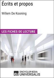 Écrits et propos de Willem De Kooning - copertina