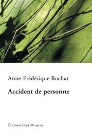 Accident de personne - copertina