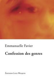 Confession des genres - copertina