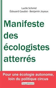 Manifeste des écologistes atterrés - Librerie.coop