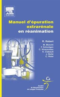 Manuel d'épuration extrarénale en réanimation - Librerie.coop