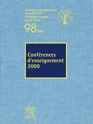Conférences d'enseignement 2009 (n°98) - copertina