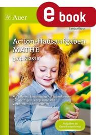 Action-Hausaufgaben Mathe 3+4 - copertina