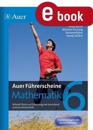 Auer Führerscheine Mathematik Klasse 6 - copertina