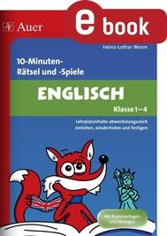10-Minuten-Rätsel und -Spiele Englisch Klasse 1-4 - copertina