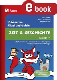 10-Minuten-Rätsel und -Spiele Zeit & Geschichte - copertina