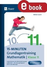15-Minuten-Grundlagentraining Mathematik Klasse 11 - copertina