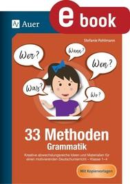 33 Methoden Grammatik - copertina