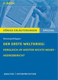 Der Erste Weltkrieg: Vergleich Im Westen nichts Neues - Heeresbericht. - copertina