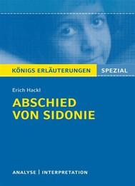 Abschied von Sidonie - copertina