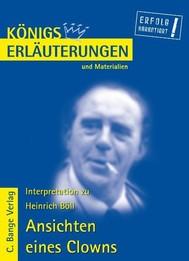 Ansichten eines Clowns von Heinrich Böll. Textanalyse und Interpretation. - copertina