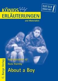 About a Boy von Nick Hornby. Textanalyse und Interpretation. - copertina