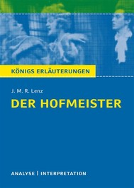 Der Hofmeister von J. M. R. Lenz. - copertina