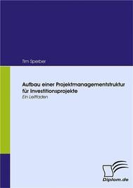 Aufbau einer Projektmanagementstruktur für Investitionsprojekte - copertina