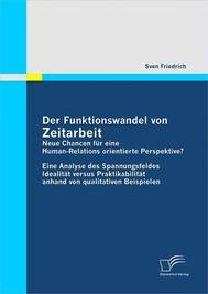Der Funktionswandel von Zeitarbeit - neue Chancen für eine Human-Relations orientierte Perspektive? - copertina