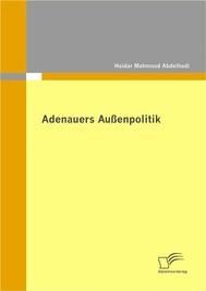 Adenauers Außenpolitik - copertina