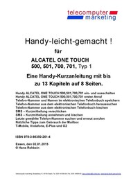 Alcatel One Touch 500, 501, 700, 701 Typ 1-leicht-gemacht - copertina