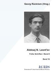 Aleksej N. Leont'ev - copertina