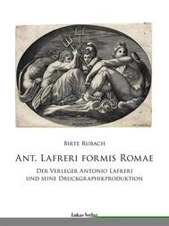 Ant. Lafreri Formis Romae - copertina