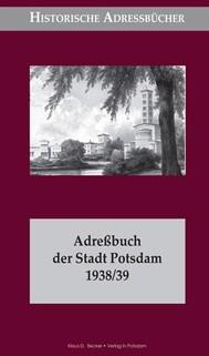 Adreßbuch der Stadt Potsdam 1938/39 - copertina