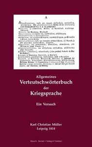 Allgemeines Verteutschwörterbuch der Kriegsprache. Ein Versuch. Leipzig 1814 - copertina