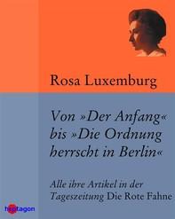 Von 'Der Anfang' bis 'Die Ordnung herrscht in Berlin' - Librerie.coop