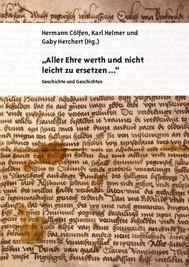 """""""Aller Ehre werth und nicht leicht zu ersetzen..."""" - copertina"""