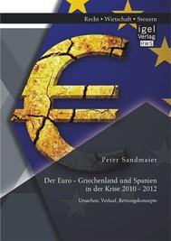 Der Euro - Griechenland und Spanien in der Krise 2010 - 2012: Ursachen, Verlauf, Rettungskonzepte - copertina