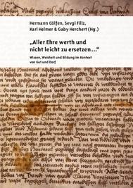 """""""Aller Ehre werth und nicht leicht zu ersetzen ..."""" - copertina"""
