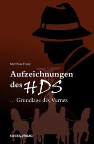 Aufzeichnungen des HDS - copertina