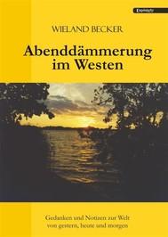 Abenddämmerung im Westen - copertina