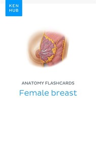 Anatomy flashcards: Female breast - copertina