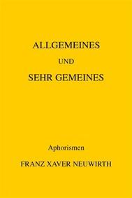 Allgemeines und sehr Gemeines - copertina