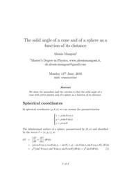 Calcolo di Angoli Solidi - copertina