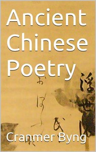 Ancient chinese poetry - copertina