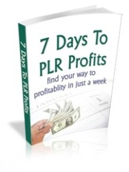 7 Days to PLR Profits - copertina