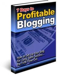 7 Days to Profitable Blogging - copertina