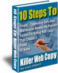 10 Steps to Killer Web Copy - copertina