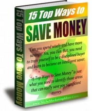 15 Top Ways To Save Money - copertina
