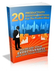 20 Productivity Boosting Methods For The Positive Mind - copertina