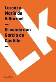 El conde don García de Castilla - copertina