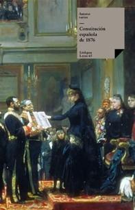 Constitución española de 1876 - Librerie.coop