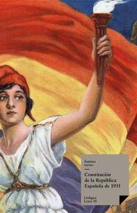 Constitución de la República española de 1931 - Librerie.coop