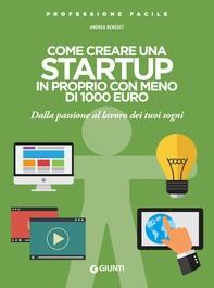 Come creare una startup in proprio con meno di 1000 euro - Librerie.coop