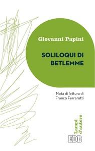 Soliloqui di Betlemme - copertina