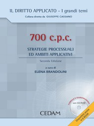 700 c.p.c. - Strategie processuali ed ambiti applicativi - copertina