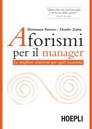 Aforismi per il manager - copertina