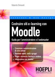 Costruire siti e-learning con Moodle - copertina