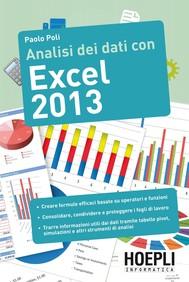 Analisi dei dati con Excel 2013 - copertina
