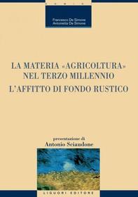 """La materia """"Agricoltura"""" nel terzo millennio - Librerie.coop"""